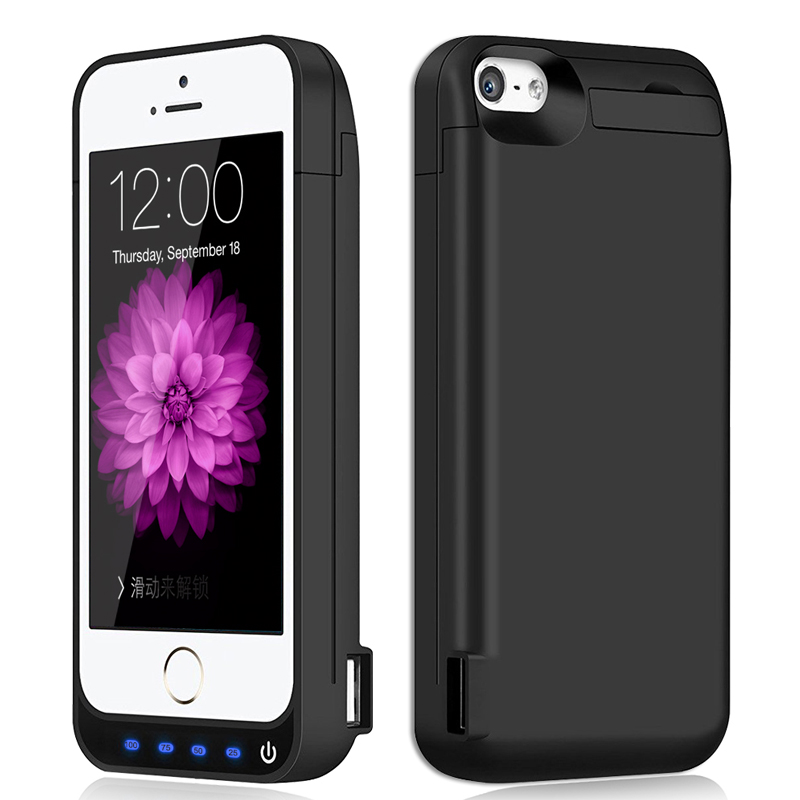 New UPGRADED 4800mAh Portable External Battery Charger Case Backup Power Bank Charge Case Cover Case For