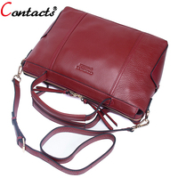 Contact S Brand Luxury Handbags Women Bags Designer Genuine Leather Crossbody Bags For Women Messenger Bags