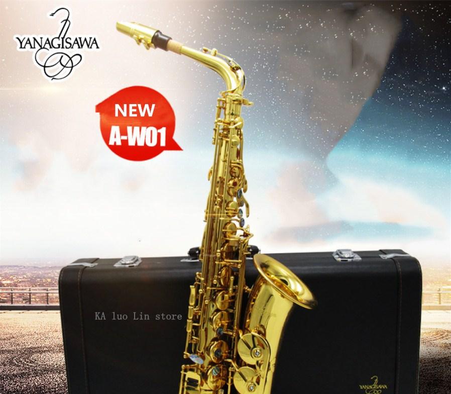 2018 nouveauté YANAGISAWA W01 Saxophone Alto Eb jouant un instrument de musique saxo professionnel de haute qualité saxophone alto gratuit