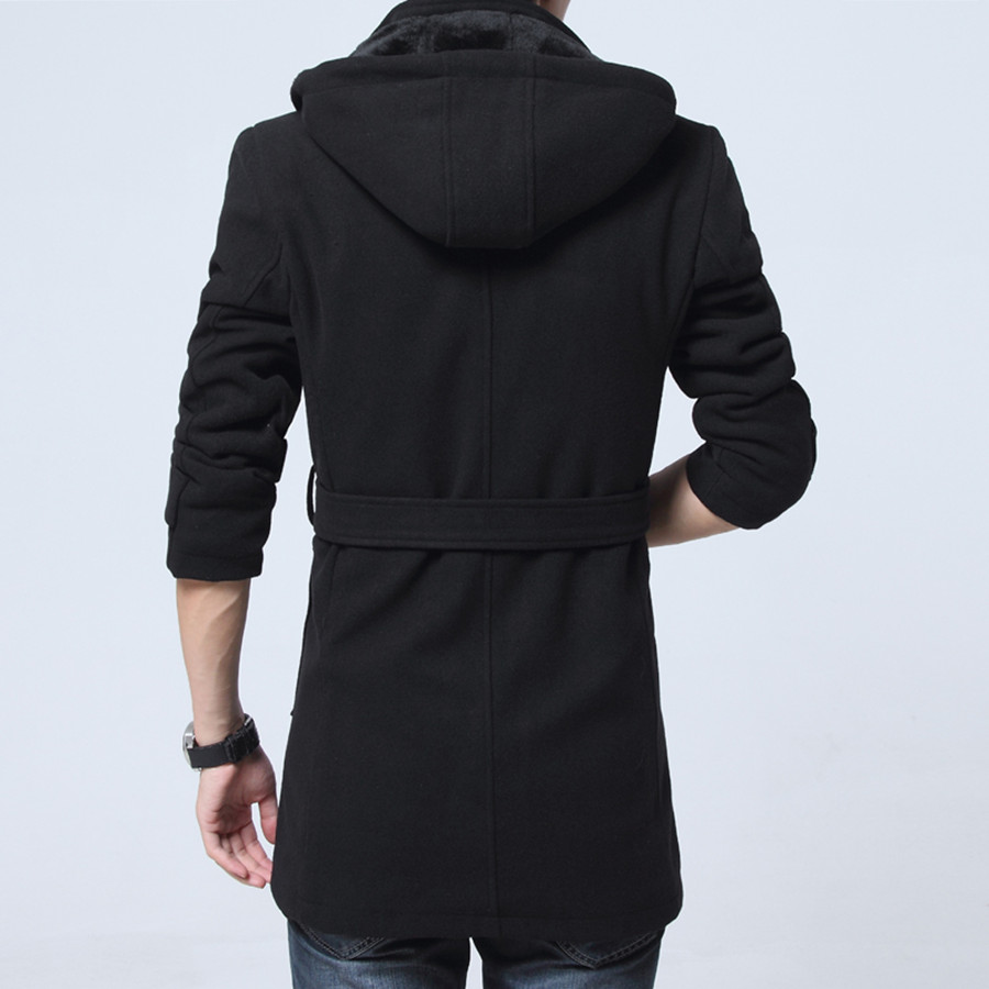 2019 Winter Trench Coat Men Fashion Long Overcoat men Hot Sale Woollen Coat Thick Men's Clothing Size 4XL Wool Jackets 7