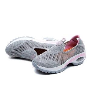 Image 5 - STQ 2020 סתיו נשים סניקרס דירות נעלי רשת להחליק על Tenis Feminino גבירותיי פלטפורמת נעליים יומיומיות Creeper Mocassin אישה 108