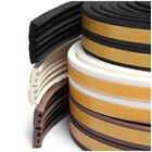 E Type Window Seal Door Seal Rubber Seal Gasket Strip Sealing Tape 5M Black