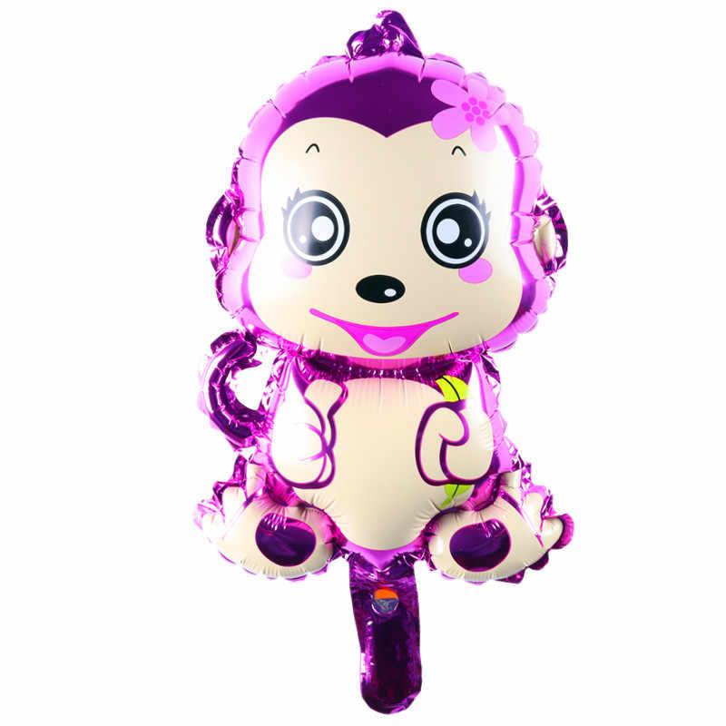 Mini macaco inflável jogo do balão decoração suprimentos ballons globos do aniversário dos miúdos do partido balão macaco