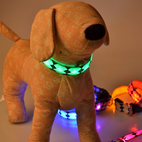 Cats Dogs Night Safety LED Light Adjustable Collar
