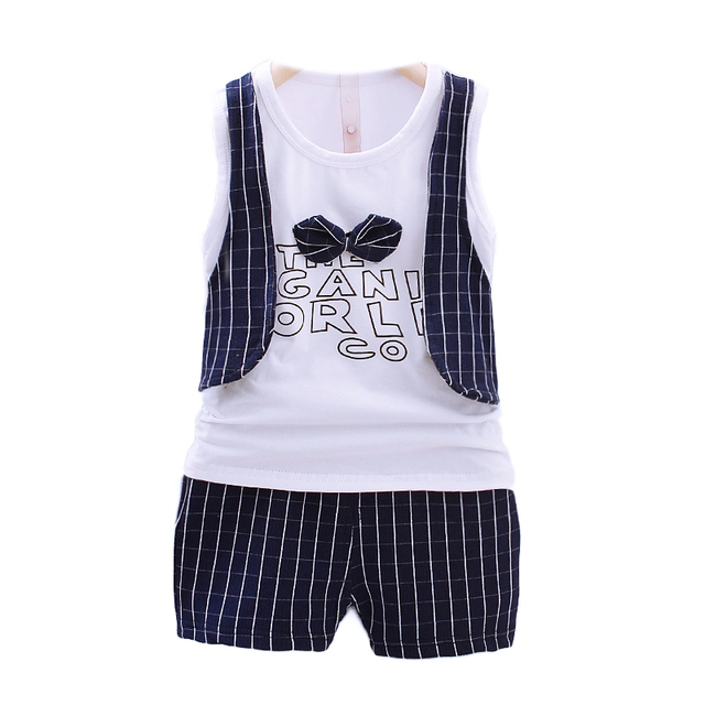0f3fa0571ffa2 US $17.8 |Toddler baby boys birthday dress bow tie Sleeveless shorts set  Wedding dress child boy summer costume suit for boys 1 2 3 4 year-in  Clothing ...