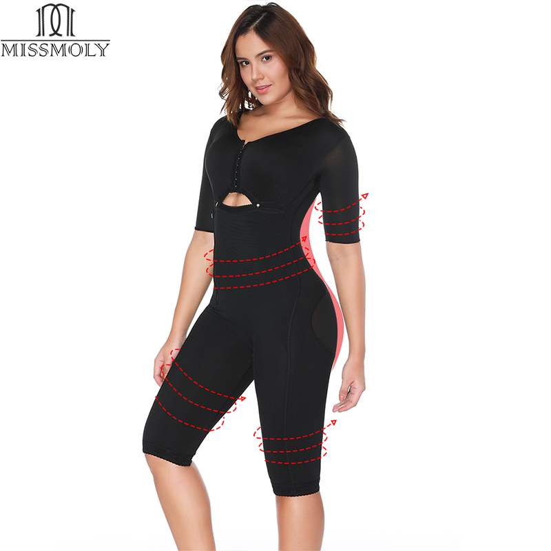 Miss Moly Full Body Shaper Arm Slimmer Bodysuit Waist Cincher Trainer Thigh Reducer Tummy Slimming Control Shapewear Corset