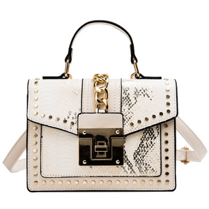 Image 1 - 2020 Design Handbags High Quality Ladies Shoulder Women PU Leather Zip Lock Small Chains  Flap Bags