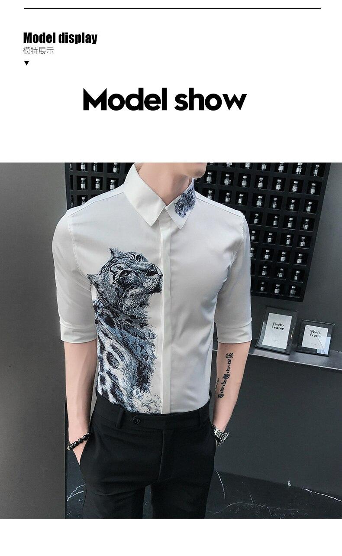 Slim Shirts Men Streetwear 4