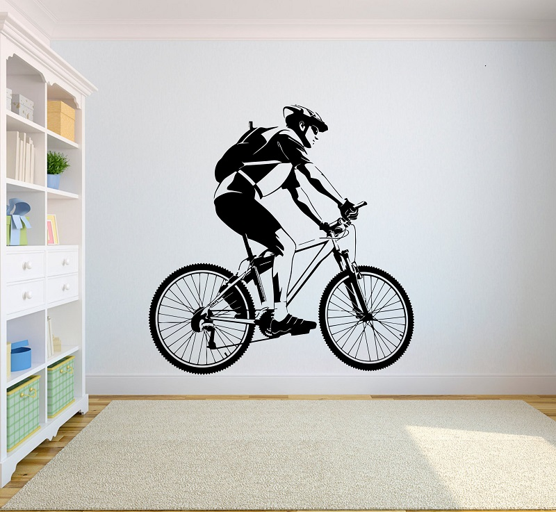 Road bike vinyl wall stickers cross country competition athletic athletes youth bedroom home decoration wall stickers 2CE2-in Wall Stickers from Home & Garden