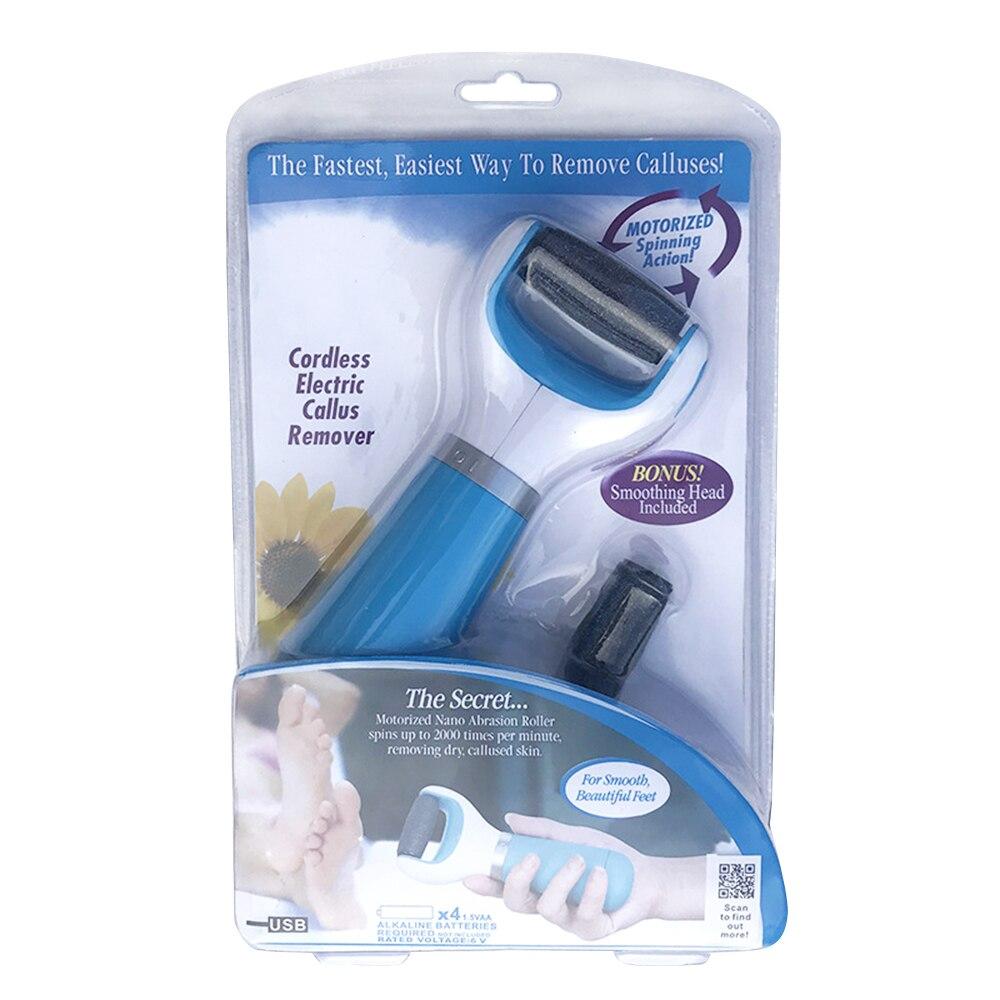 Dropshipping Pedi Spin TV Skin Peeling Device Electric Grinding Foot Care Pro Pedicure Kit Foot File Hard Skin Callus Remover(China)