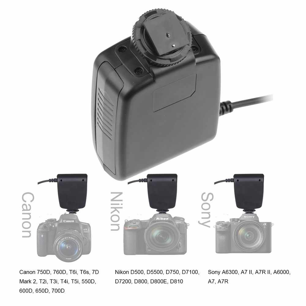 Travor 18 pcs גבוהה להאיר SMD LED מאקרו טבעת פלאש RF-600D עבור Canon Nikon Pentax אולימפוס Panasonic Sigma DSLR מצלמה