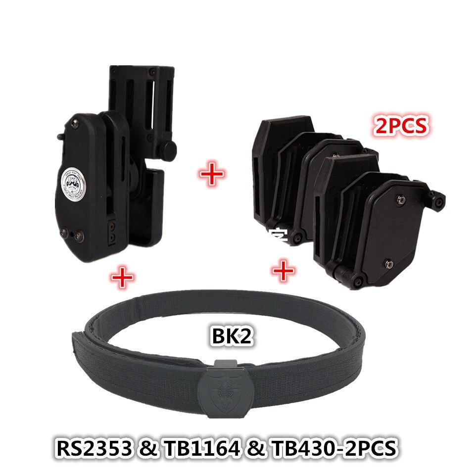 Tactique escarmouche IPSC ceinture parfaite match avec étui vitesse Magazine pochette ensemble compétition tir ceinture tactique Mag étui - 2