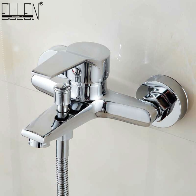 Wall Mounted Bathtub Faucet Waterfall Bath Faucet Brass Chrome Finish Bath Shower Mixer Hot and Cold Water Mixer  FYB011
