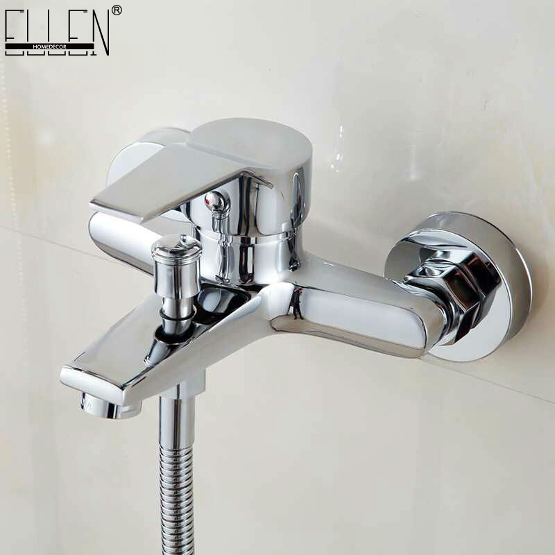 Wall mounted bathtub faucet waterfall bath faucet brass chrome finish bath shower mixer hot and cold water mixer FYB011 wholesale and retail deck mounted waterfall bathtub faucet chrome finish bath spray w hand shower