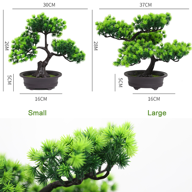 2019 Large Artificial Plant Black Pine Bonsai Natural Indoor Bonsai Tree  Perennial Plants For Home Garden Courtyard Decor From Hymen, $37 19 |