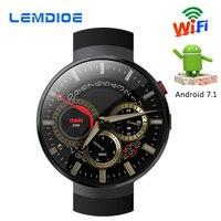 LEMDIOE LEM7 Смарт часы Android 7,1 LTE 4G Smartwatch 2MP Камера WI FI сердечного ритма 1 ГБ + 16 ГБ памяти с камера перевод инструмент