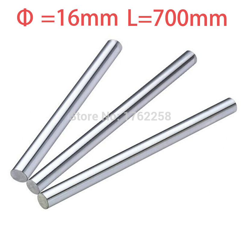 1PC 16mm x 700mm Linear Shaft 3D Printer Cylinder Liner Rail Axis CNC Parts axk 2pcs 8mm 8x700 linear shaft 3d printer 8mm x 700mm cylinder liner rail linear shaft axis cnc parts