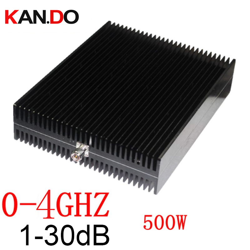 4Ghz 500W RF Attenuator N Male To N Female DC-4Ghz 1-30DB Attenuation RF COAXIAL Jack Attenuator Communication Converter