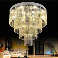 T Luxury Large Circular Crystal LED Ceiling Light For Living Room Home Bedroom Modern Lamps Penthouse