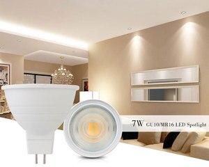 Image 5 - Luz de led regulável para ponto gu10, 7w, 220v, mr16 gu5.3, lâmpada led com 30 feixe de ângulo lâmpada para lâmpada de mesa