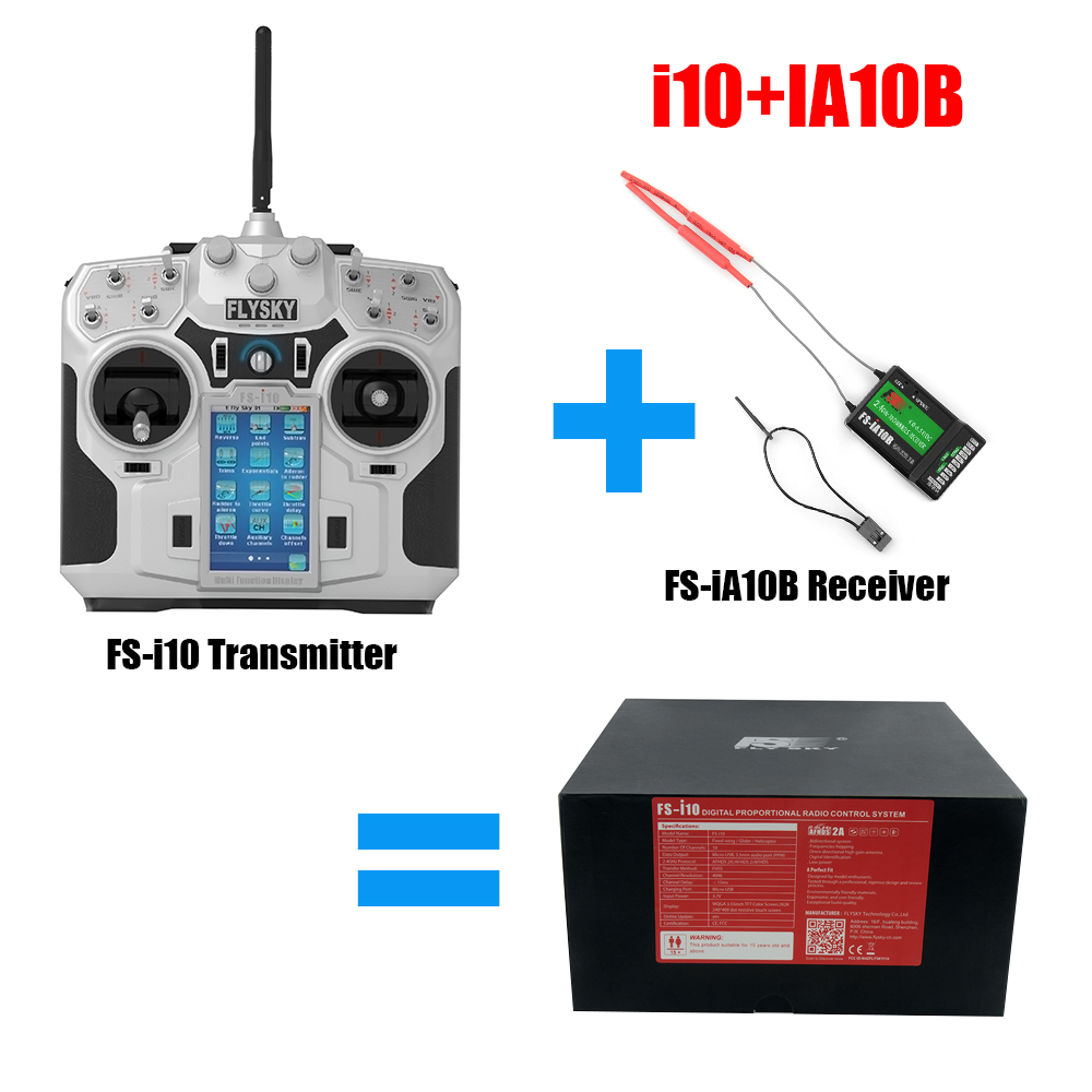 Flysky FS IA10B Receiver FS i10 Transmitter 2 4G 10CH Receiver For RC Quadcopter Helicopter For