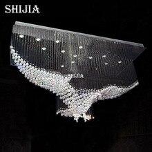 hot deal buy new eagles design luxury modern crystal chandelier lighting lustre hall led lights cristal lamp l100*w55*h80cm 110v-220v