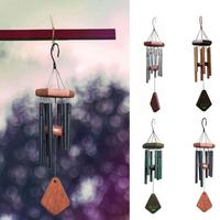 New Creative decoration gift 6 Bells Copper Coins Windchime Chapel Bells Wind Chimes Door Hanging Home Decor G30