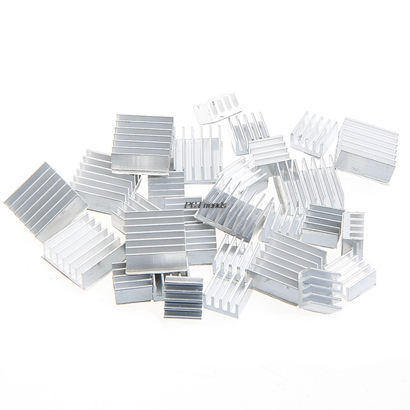 10Pcs Heatsink Fans Pure Aluminum Heat Sink For Cooling Pi 2 For Raspberry Pi 3 100% pure raspberry extract ketone good for slimming