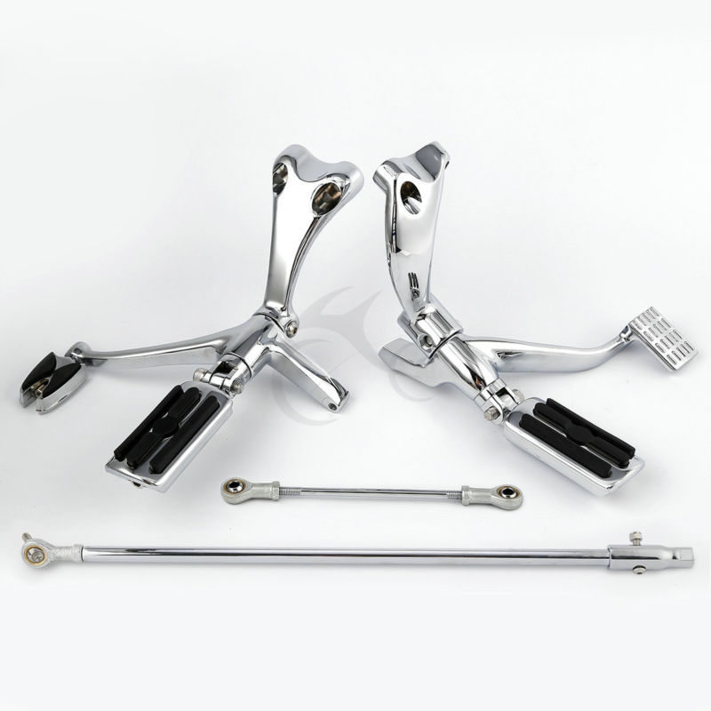 TCMT Motorcycle Forward Control Footpegs Linkage Kit For Harley Sportster XL 883N 1200X Forty Eight Seventy Two Super Low 14 18