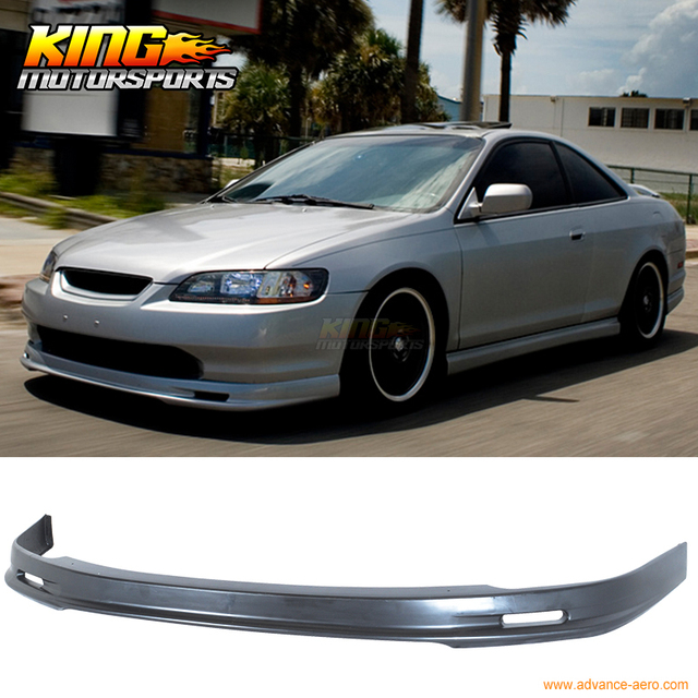 fit 98 99 00 honda accord coupe 2dr pu front bumper lip. Black Bedroom Furniture Sets. Home Design Ideas
