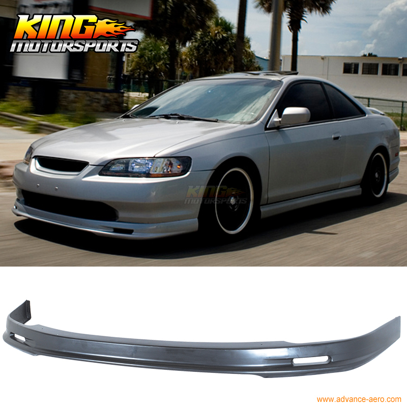 Fit For 98 99 00 <font><b>Honda</b></font> Accord Coupe 2DR MUGEN Style Front Bumper Lip Spoiler Body Kit PU image