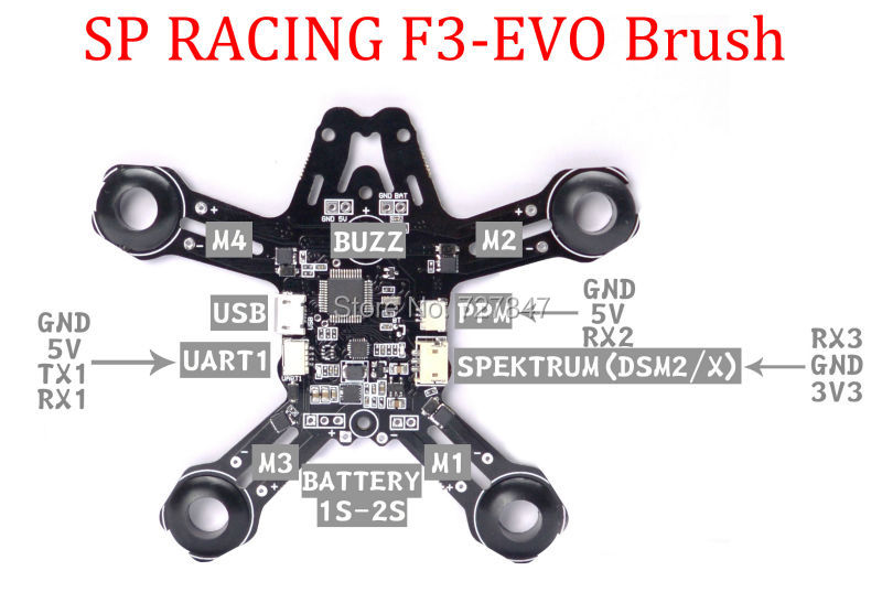 Aliexpress.com : Buy SP Racing F3 EVO Brush PDB flight