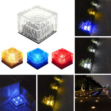 Солнечная энергия ледяной куб безопасность похороненный свет домашняя наземная лампа экологически чистый путь дисковые огни уличные