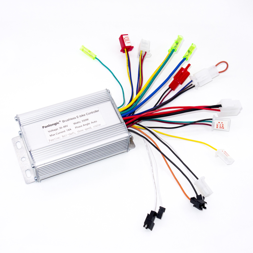 hight resolution of panlongic 36v 48v 350w bicycle e bike electric scooter brushless dc motor speed controller