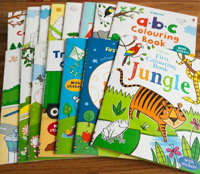 Indah Adegan Gambar Kartun Stiker Buku Anak Inggris Gambar Buku