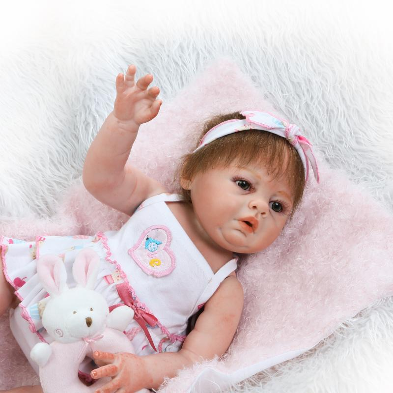 NPKCOLLECTION new simulation full vinyl girl doll very soft real gentle touch doll sweet gift for kids
