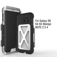 Luxury Doom Armor King Dirtproof Shockproof Metal Cell Phone Case Cover For SAMSUNG GALAXY S4 S5