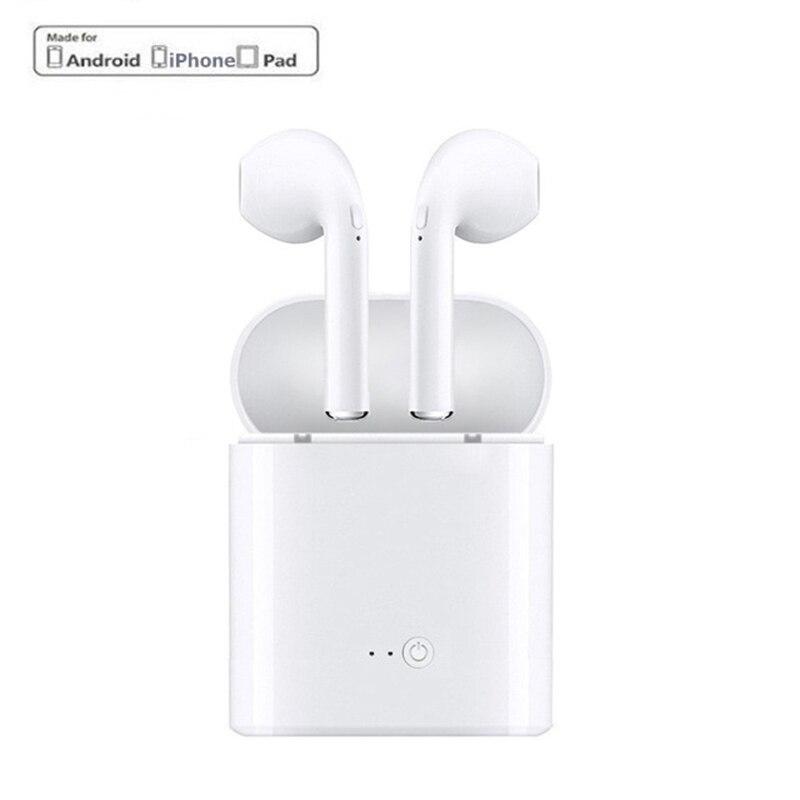 Mini i7s TWS Senza Fili di Bluetooth del Trasduttore Auricolare Auricolare Con La Scatola del Caricatore per il iphone Ios Android Blutooth Auricolari Stereo Auricolare fone