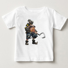 Game OW boys T-Shirts Watch Over Genji Soldier 76 DVA Hanzo Mccree Tee Shirt Homme 100% Cotton T Shirt kids tshirt dowin ow about size 10cm action figure tracer game widow maker d va mei genji hanzo mccree soldier 76 bastion