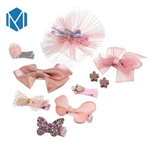 M MISM Top Sale Headwear 1Set=10Pcs Lovely Crown Bowknot For Girls Princess Party Hair Accessories Handmade
