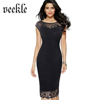 See Through Sexy Black Lace Dress Plus Size 4XL 5XL Butterfly Vest Short Pencil Red Summer Casual Sundresses Party Office Kleid