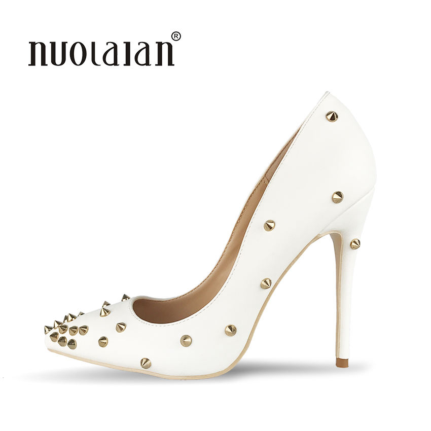 AIWEIYi Womens Rivets Pointed toe Buckle Strap High Heels Ankle Boots Bridal Pump Shoes   B071VB5VHK