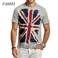 E-BAIHUI Brand 100% Cotton  Union- Jack Clothing Male Slim Fit  Man T-shirts Casual T-Shirts Skateboard Swag Y001