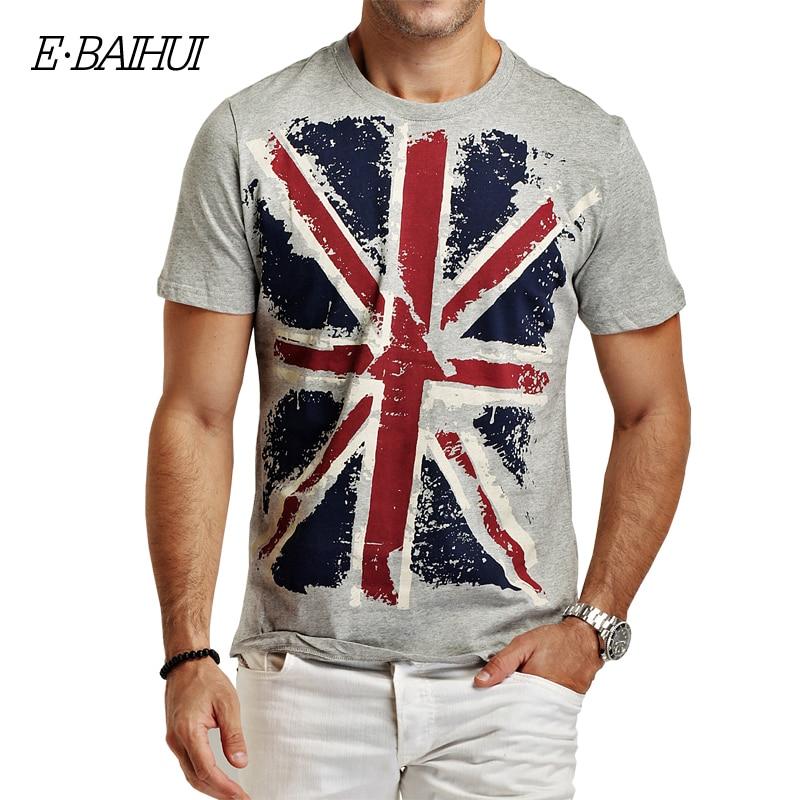E-BAIHUI Markë stili veror Veshje pambuku për burra Bluzë mashkull T-shirts Mashkull T-Shirts Rastesishme Skateboard Swag tops tee Y001