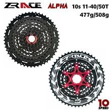 Alpha zrace roda livre de bicicleta, luz de 10 velocidades, 10 cassete, mtb 11 -46 t/50 t-preto,