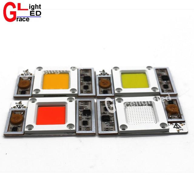 50W 220V / 110V AC High Power led chip built-in driver Full Spectrum Royal Blue White  6000K 10000k 20000k 30000k no need driver