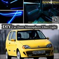Для Fiat Seicento/600 внутренний окружающий свет тюнинг атмосфера волоконно-оптический ленточный свет внутри Дверная панель Подсветка Ремонт