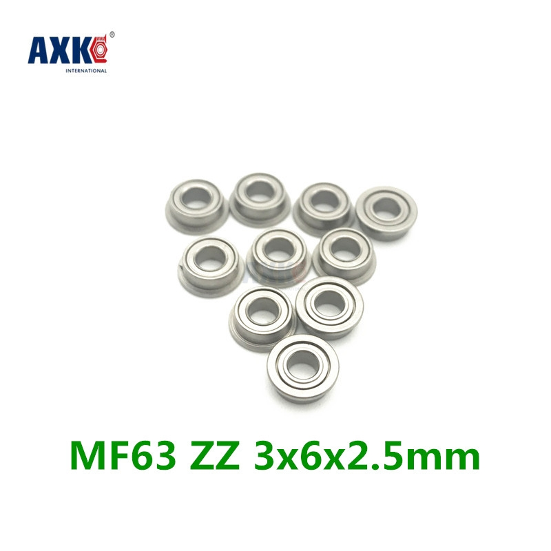 Miniature Flanged Ball Bearings Rubber Sealed Bearing 5 PCS MF95-2RS 5x9x3
