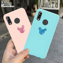 Abbery Cute 3D Mouse Phone Case for Huawei P20 P8 P9 P10 Mate 9 10 Lite Pro NOVA PLUS Y5 Y3 2017 Cover For Honor 9/10 Lite 7X 7C(China)