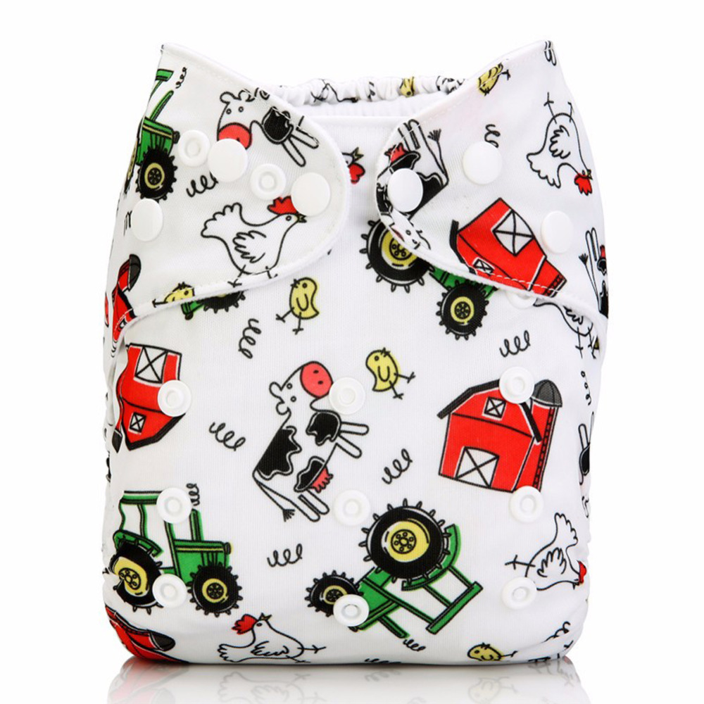 Baby Washable Reusable Real Cloth Pocket Diapers nappies Cover Adjustable nappy waterproof panties for baby girls boys